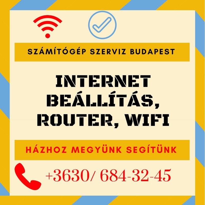 Inernet beállítás, router, wi-fi